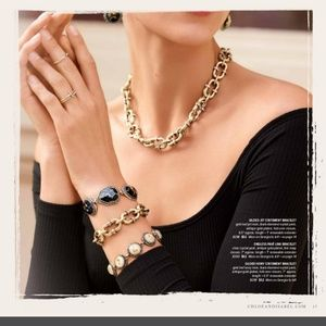 VINTAGE Chloe+Isabel Gilded Statement Bracelet Set